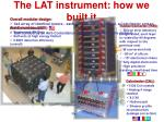the lat instrument how we built it