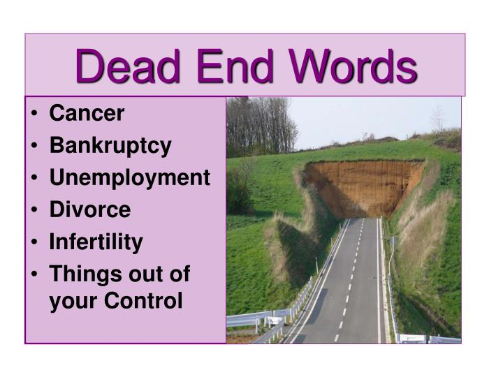 Dead End Words