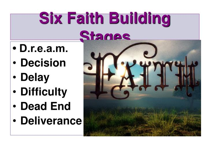 Six faith building stages