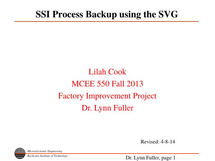 ssi process backup using the svg n.