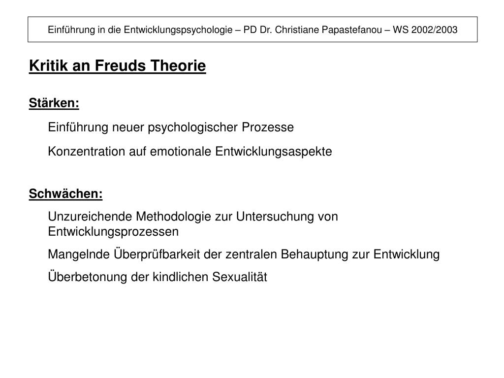 Kritik An Freud