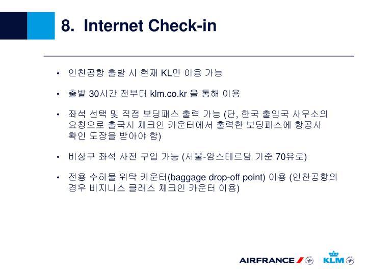 8.  Internet Check-in