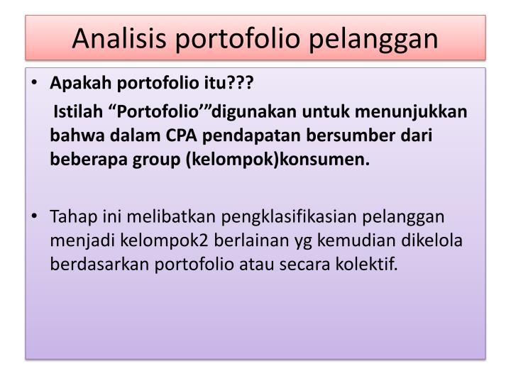 Analisis portofolio pelanggan1