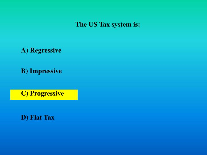 The US Tax system is: