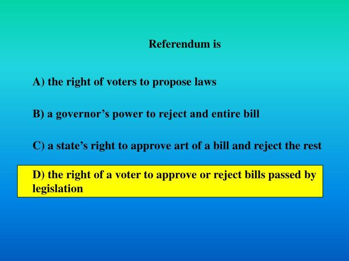 Referendum is