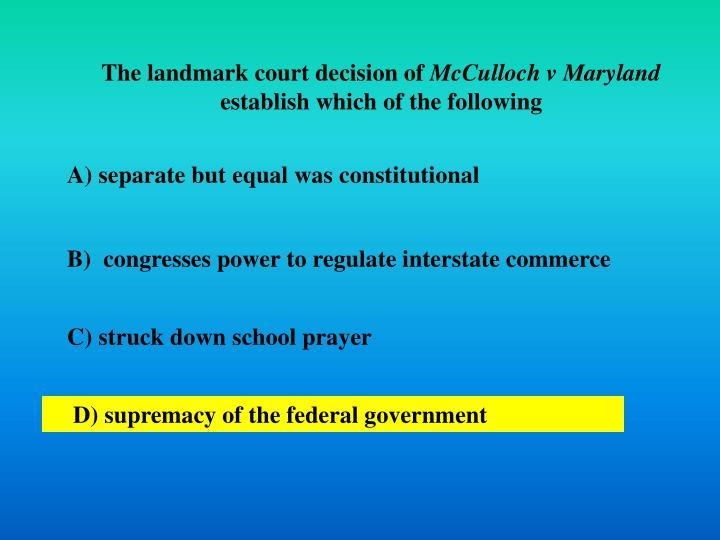 The landmark court decision of