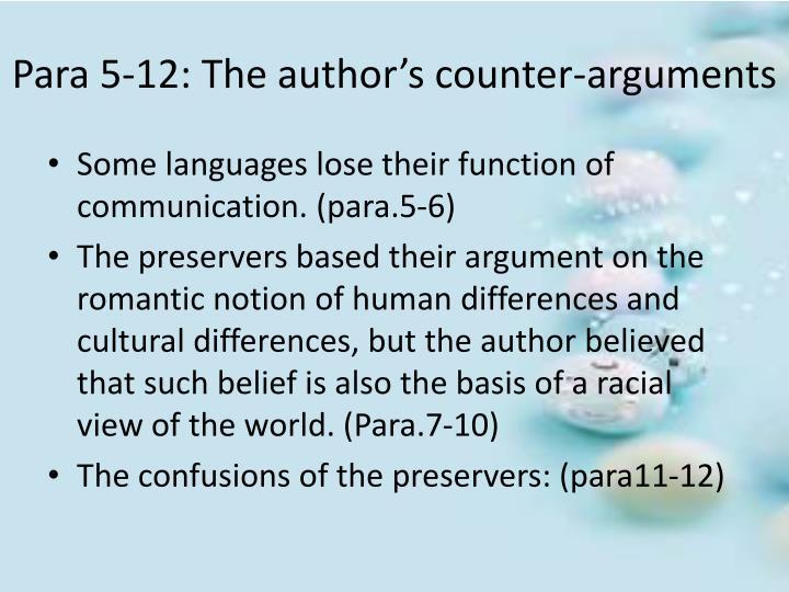 Para 5-12: The author's counter-arguments