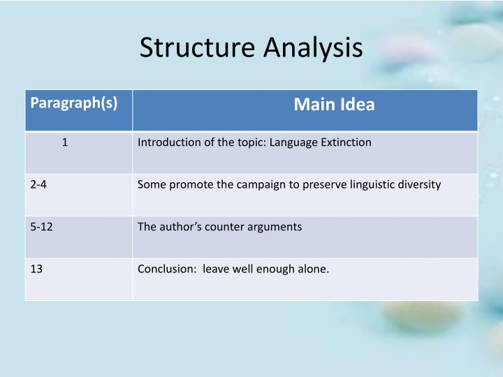 Structure Analysis