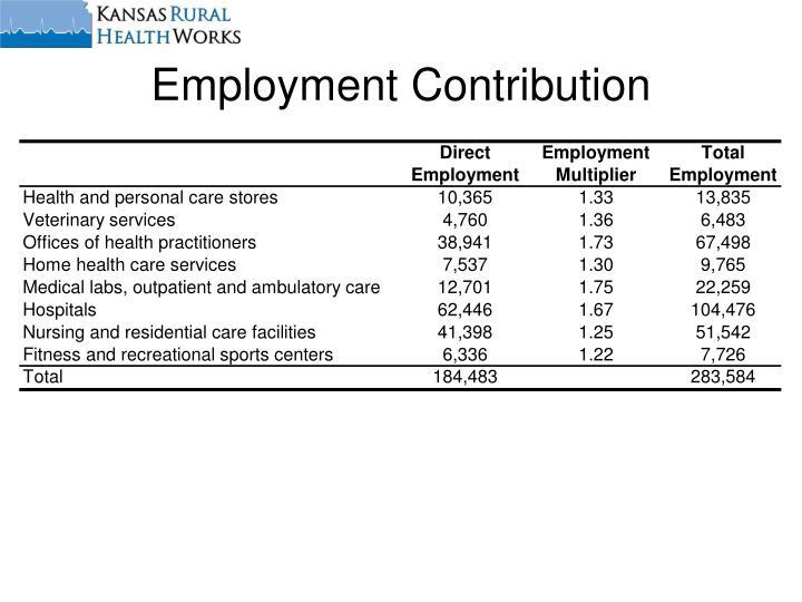 Employment Contribution