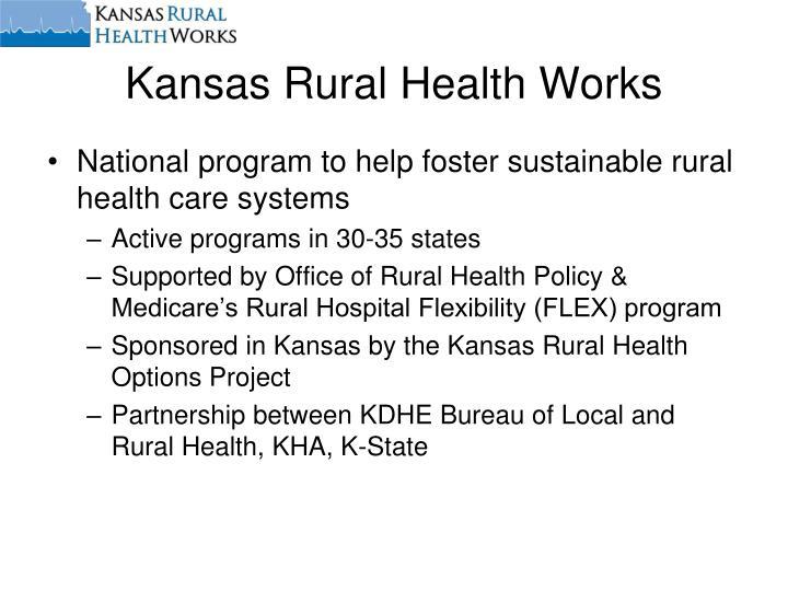 Kansas rural health works