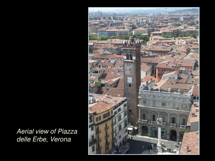 Aerial view of Piazza delle Erbe, Verona