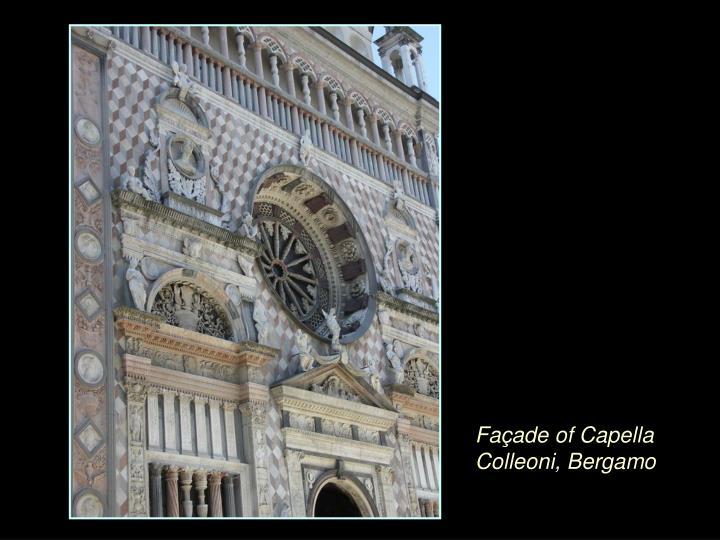 Façade of Capella Colleoni, Bergamo