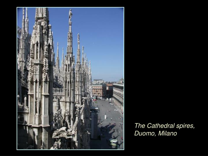The Cathedral spires, Duomo, Milano