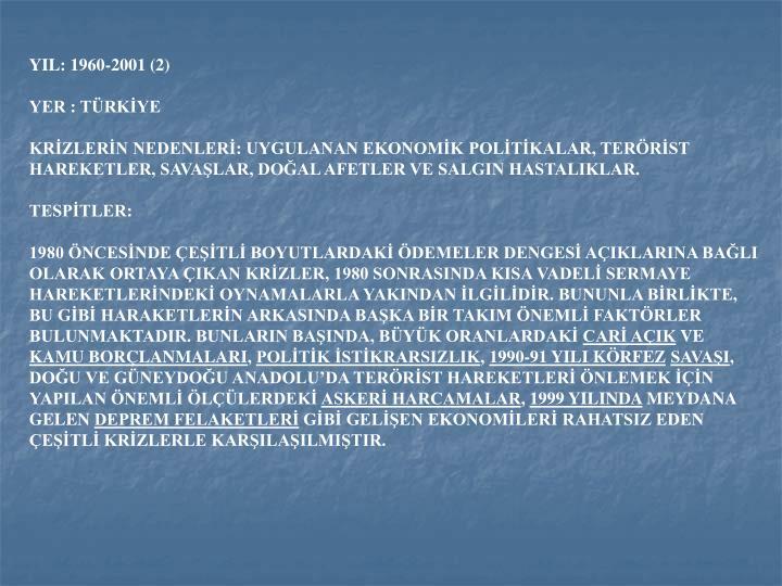 YIL: 1960-2001 (2)