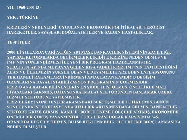 YIL: 1960-2001 (3)