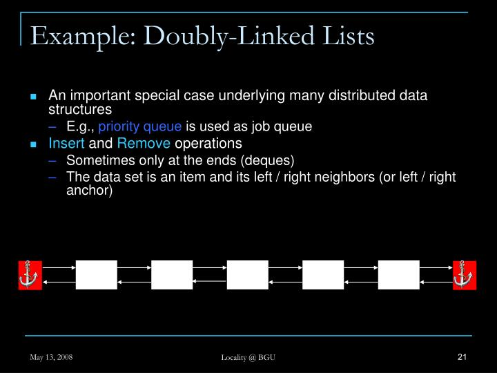 Example: Doubly-Linked Lists