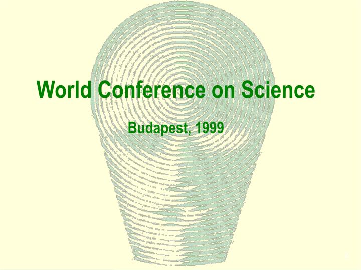 World conference on science budapest 1999