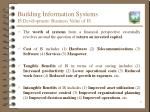 building information systems is development business value of is
