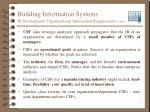 building information systems is development organizational information requirements cont1