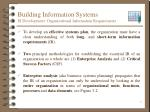 building information systems is development organizational information requirements