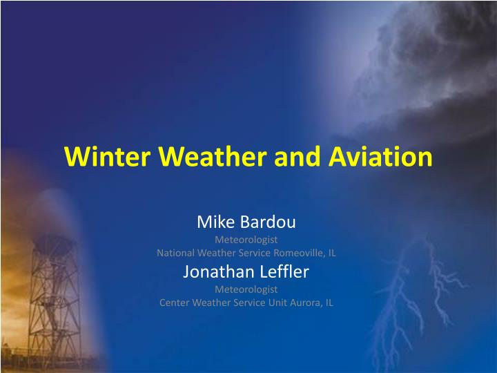 winter weather and aviation n.