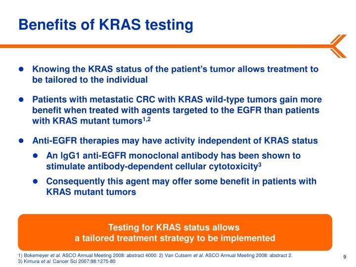 Benefits of KRAS testing