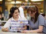 coag reform agenda human capital development