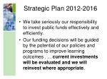 strategic plan 2012 20161