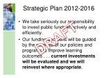 strategic plan 2012 20162
