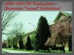 army inscom headquarters remember general stubblebine