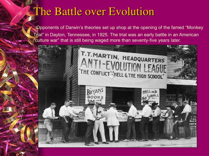 The Battle over Evolution