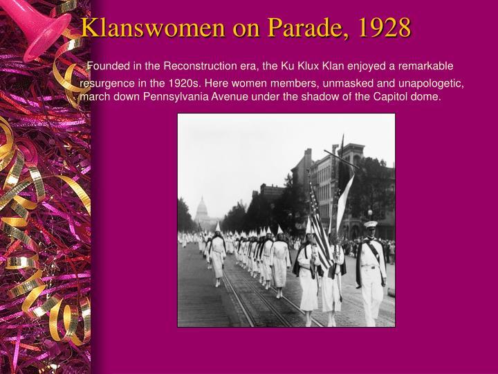 Klanswomen on Parade, 1928