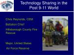 technology sharing in the post 9 11 world