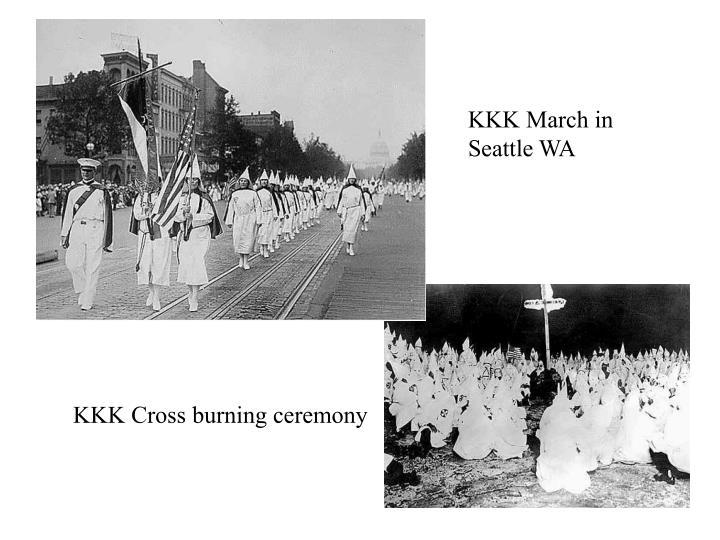 KKK March in Seattle WA