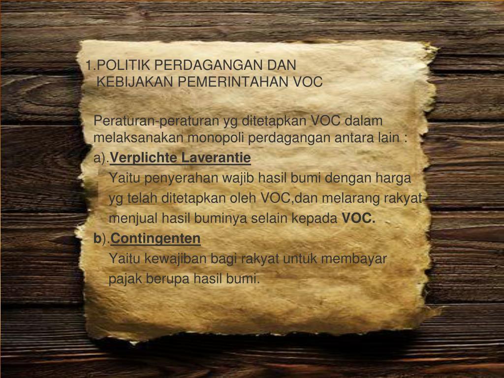 PPT - SEJARAH EKONOMI INDONESIA PowerPoint Presentation ...