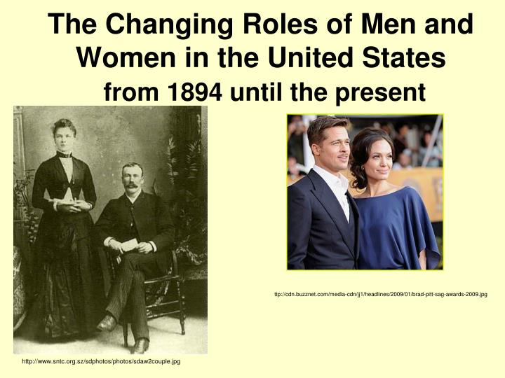 the changing roles of men and