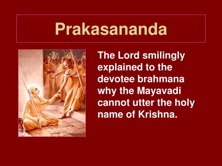 Prakasananda