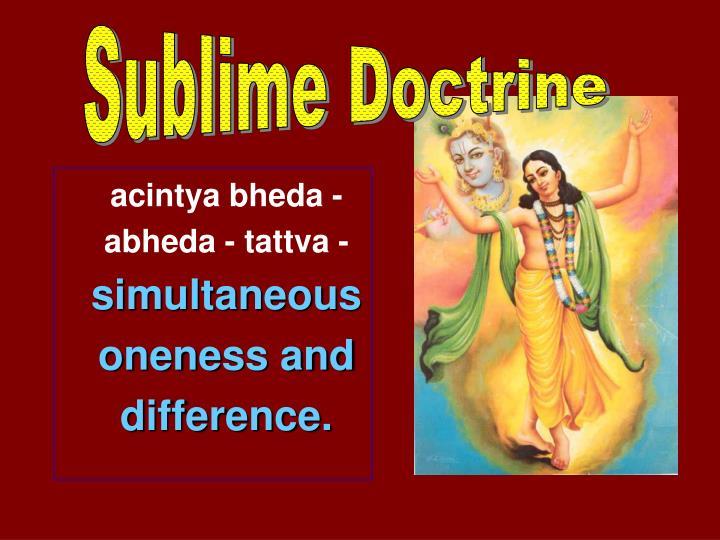 Sublime Doctrine