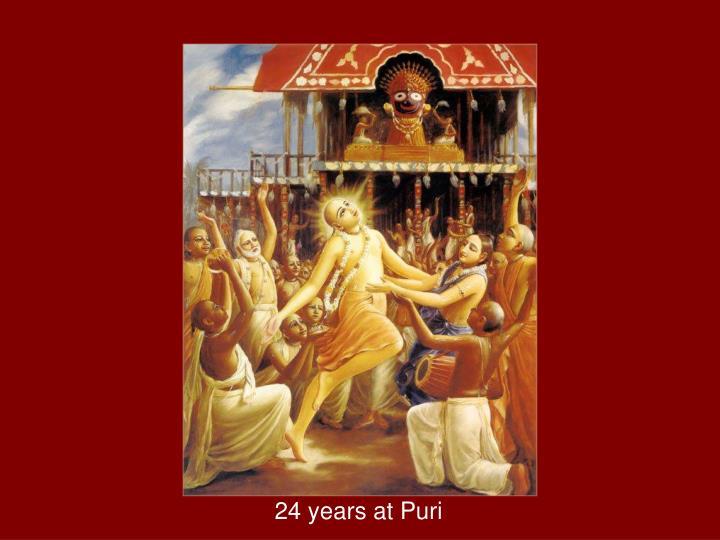 24 years at Puri