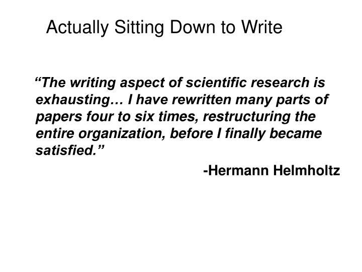 Actually Sitting Down to Write