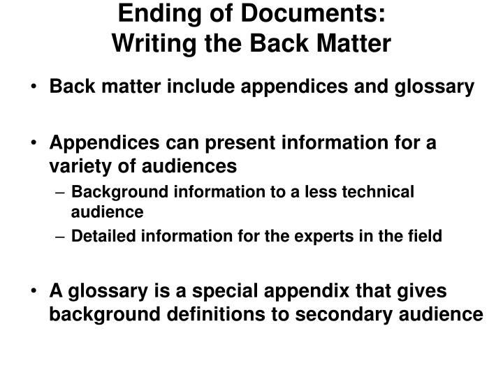 Ending of Documents: