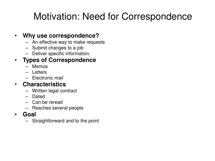 Motivation: Need for Correspondence