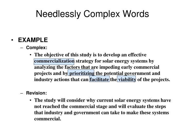 Needlessly Complex Words