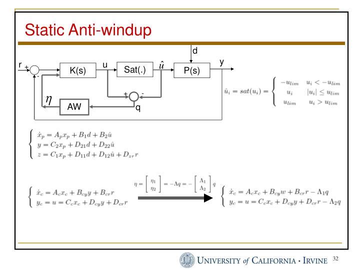 Static Anti-windup
