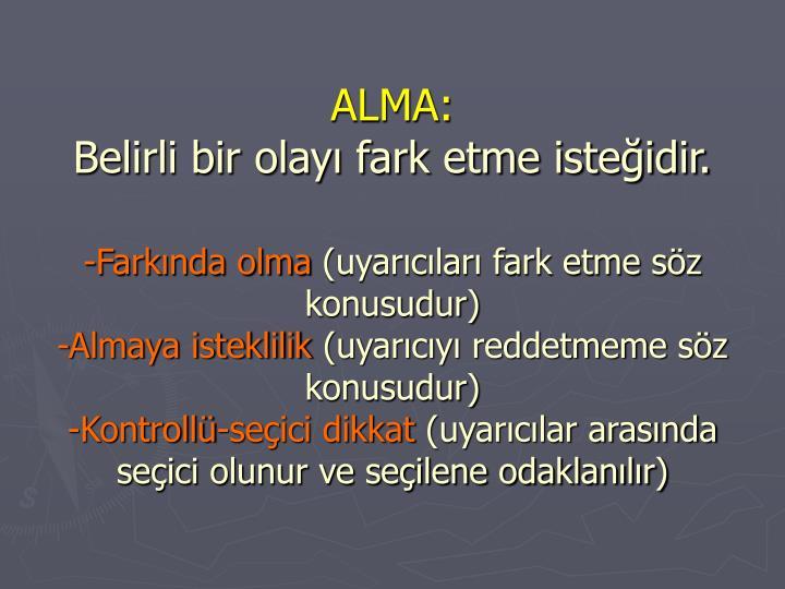 ALMA: