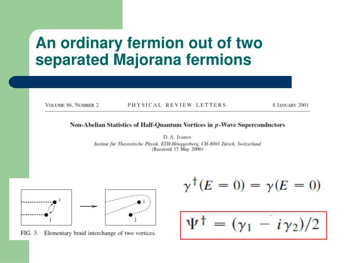 An ordinary fermion out of two separated Majorana fermions