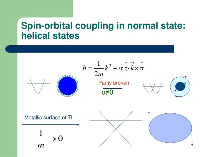 Spin-orbital coupling in normal state: helical states
