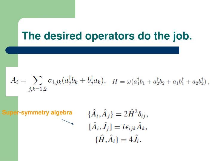 The desired operators do the job.