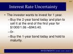 interest rate uncertainty1