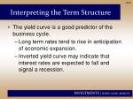 interpreting the term structure1